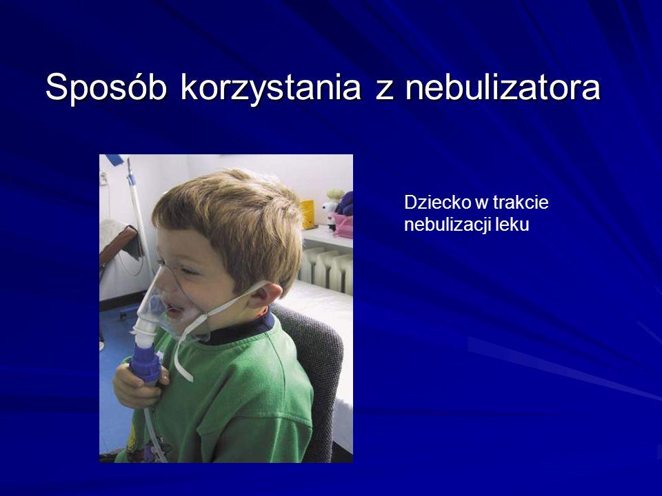 Sposób korzystania z nebulizatora