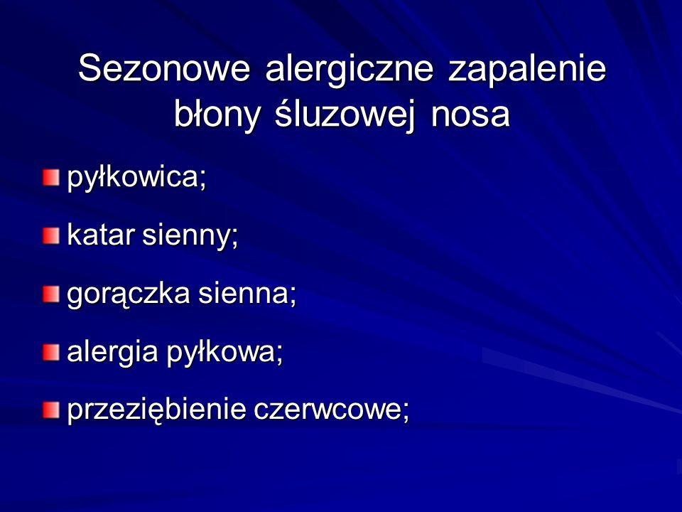 Sezonowe alergiczne zapalenie błony śluzowej nosa