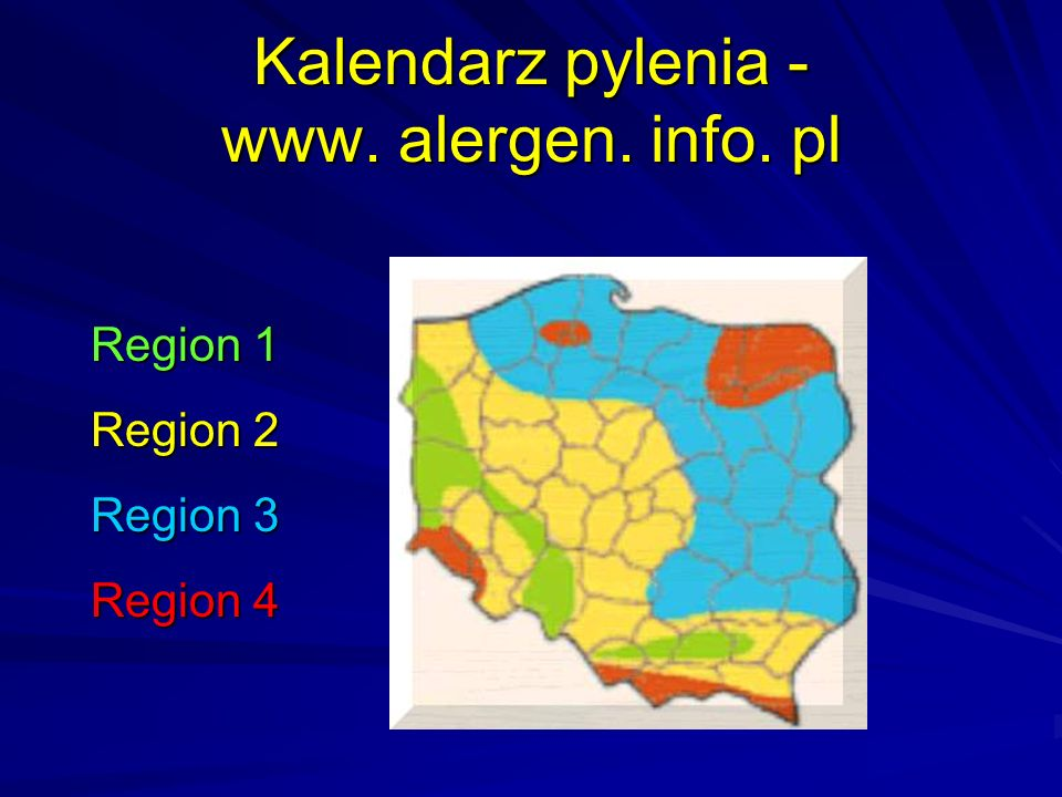 Kalendarz pylenia - www. alergen. info. pl