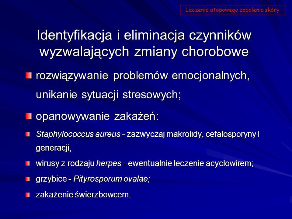 Identyfikacja i eliminacja czynników wyzwalających zmiany chorobowe