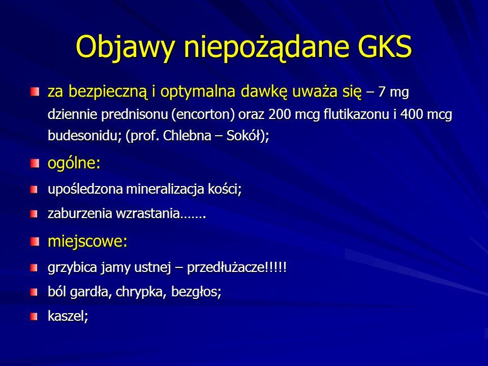 Objawy niepożądane GKS