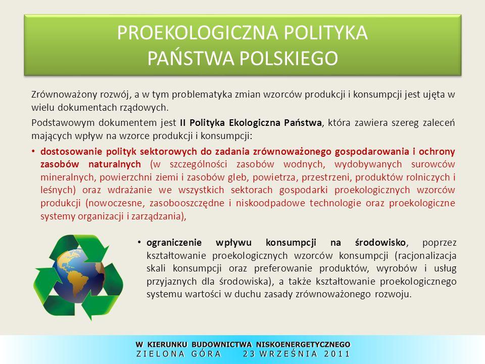 PROEKOLOGICZNA POLITYKA PAŃSTWA POLSKIEGO