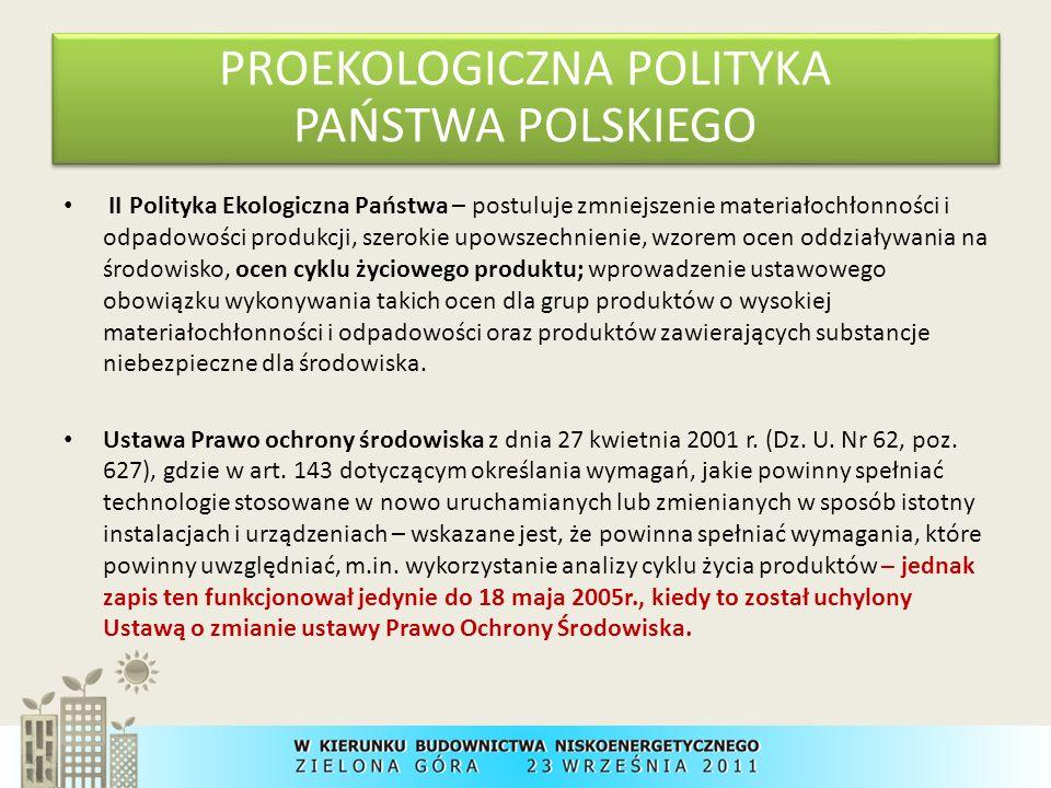 PROEKOLOGICZNA POLITYKA