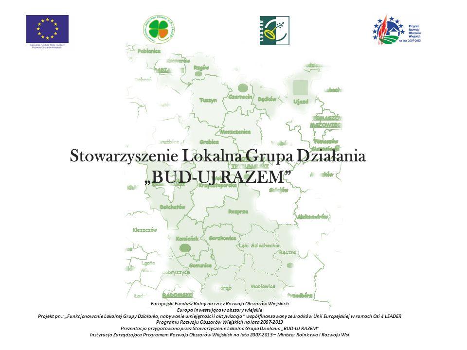"""Stowarzyszenie Lokalna Grupa Działania """"BUD-UJ RAZEM"""