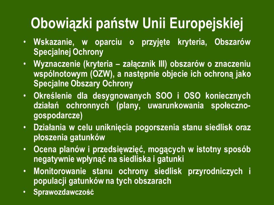 Obowiązki państw Unii Europejskiej