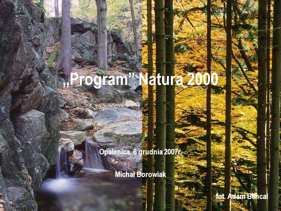 """Program Natura 2000 Opalenica, 6 grudnia 2007r. Michał Borowiak"