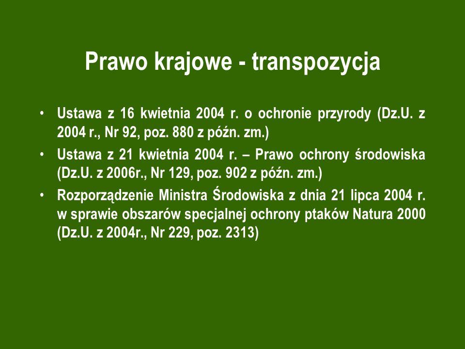 Prawo krajowe - transpozycja