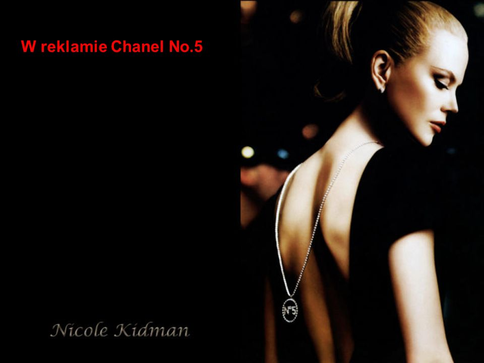 W reklamie Chanel No.5