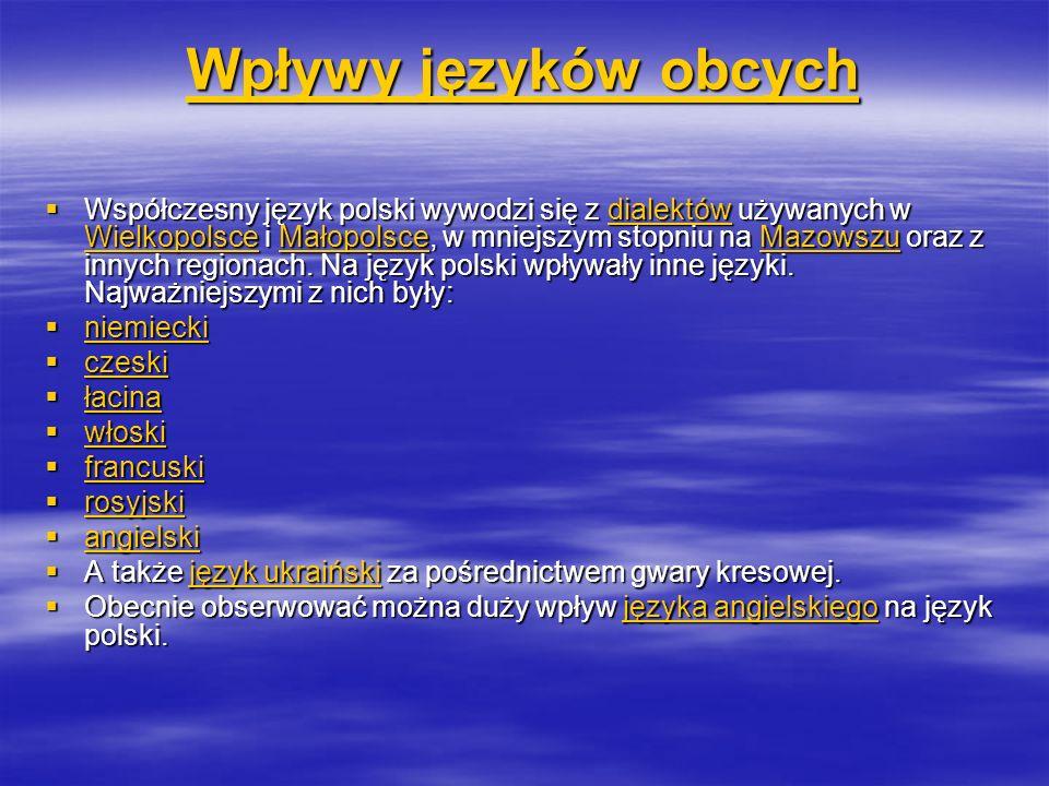 Wpływy języków obcych