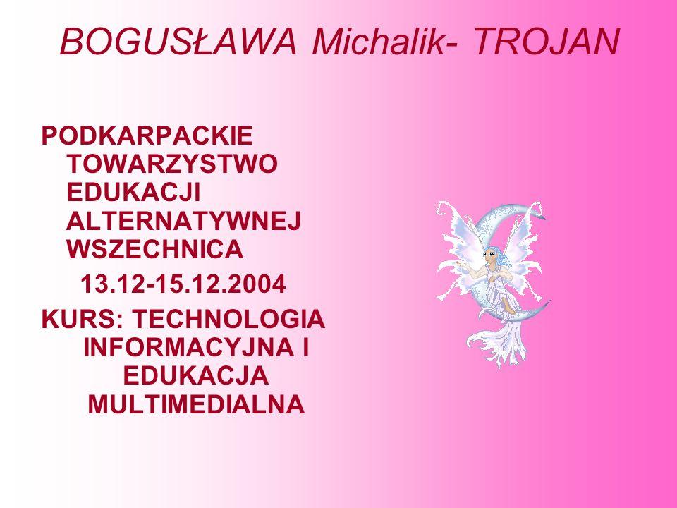 BOGUSŁAWA Michalik- TROJAN