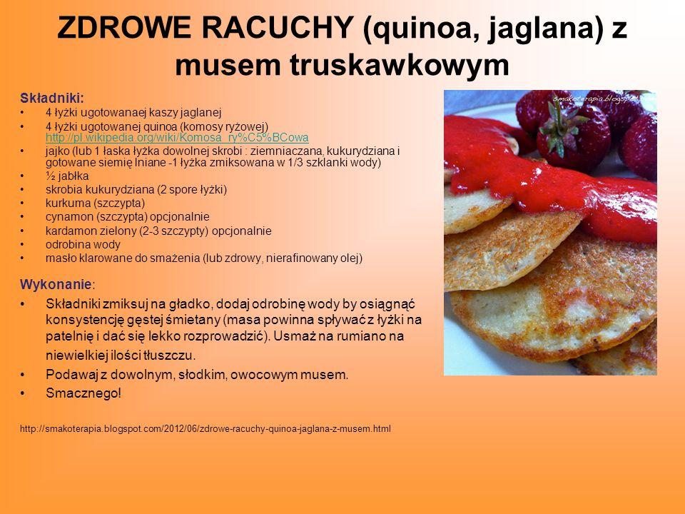ZDROWE RACUCHY (quinoa, jaglana) z musem truskawkowym
