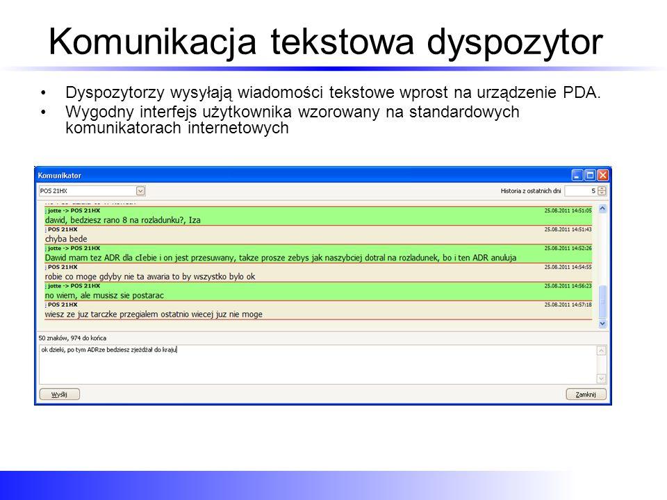 Komunikacja tekstowa dyspozytor