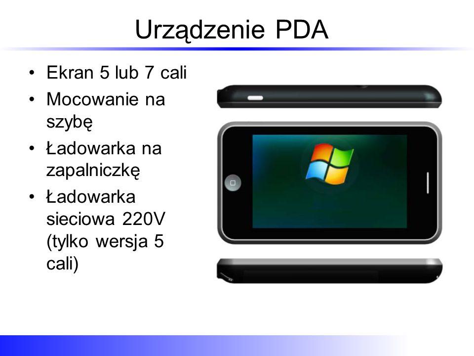 Urządzenie PDA Ekran 5 lub 7 cali Mocowanie na szybę