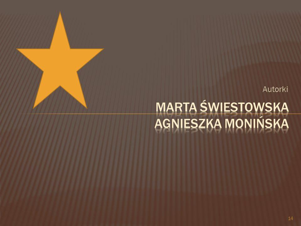 Marta Świestowska Agnieszka Monińska