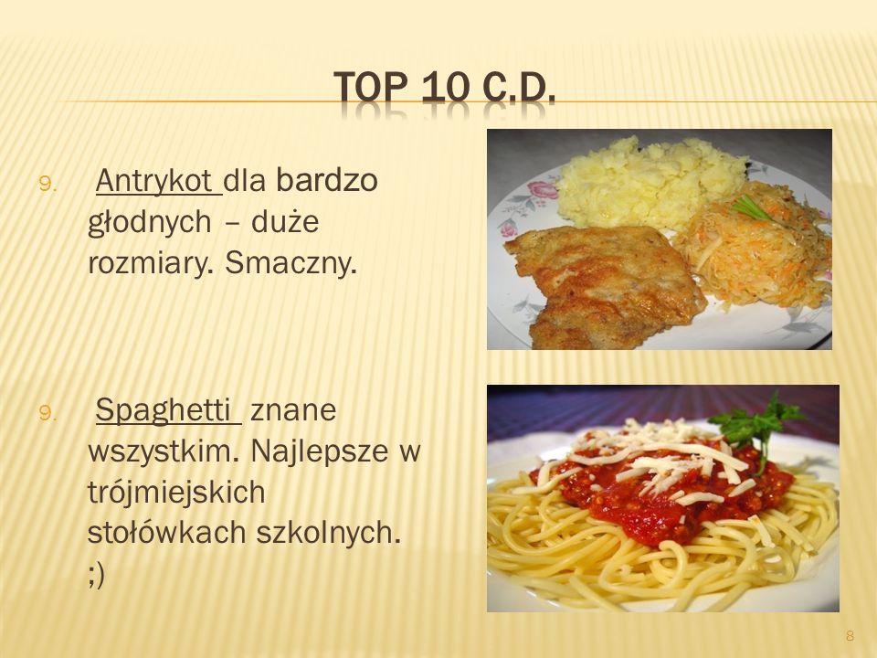 Top 10 c.d. Antrykot dla bardzo głodnych – duże rozmiary. Smaczny.