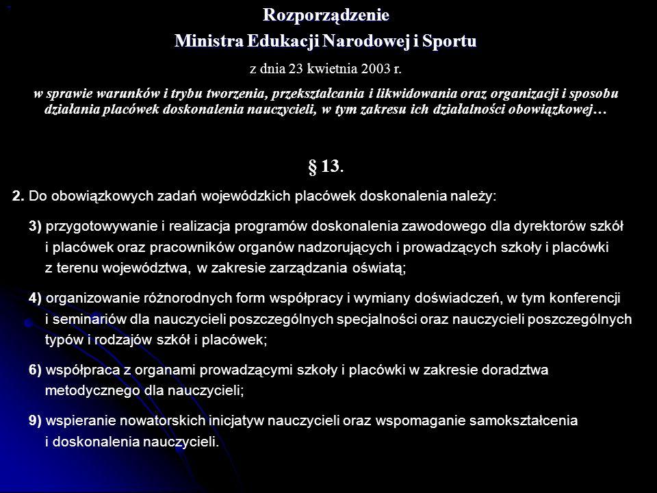 Ministra Edukacji Narodowej i Sportu