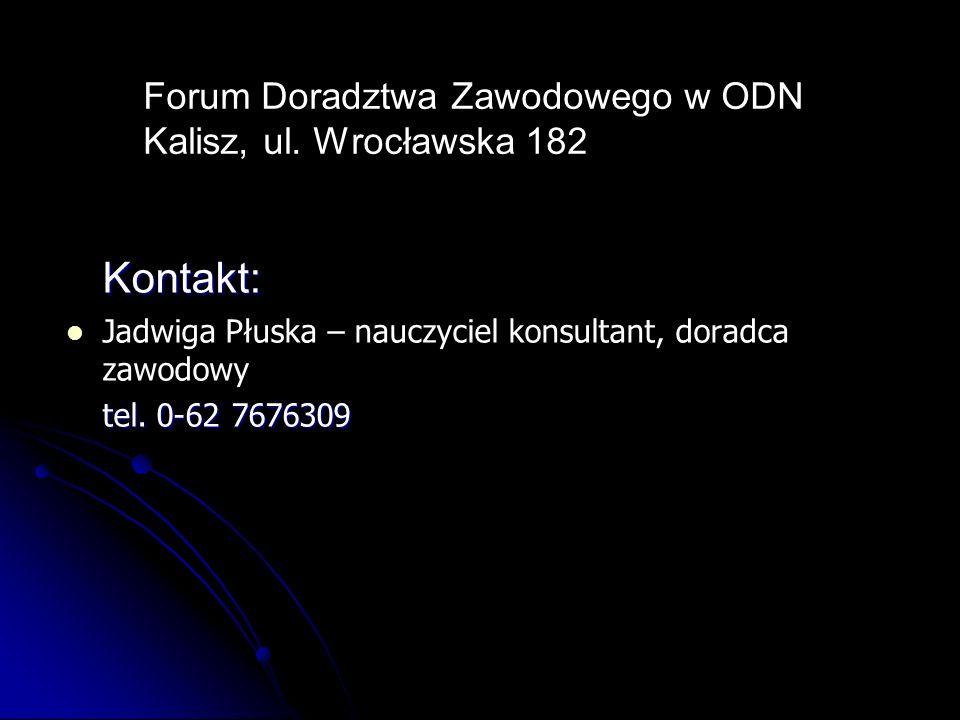 Forum Doradztwa Zawodowego w ODN Kalisz, ul. Wrocławska 182