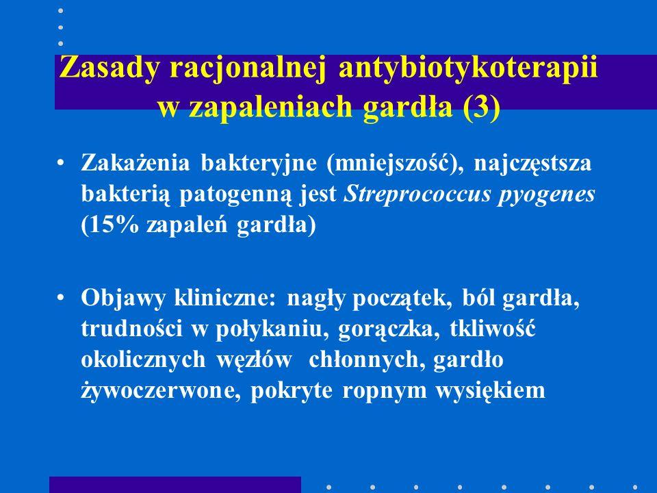 Zasady racjonalnej antybiotykoterapii w zapaleniach gardła (3)