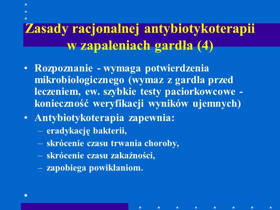 Zasady racjonalnej antybiotykoterapii w zapaleniach gardła (4)