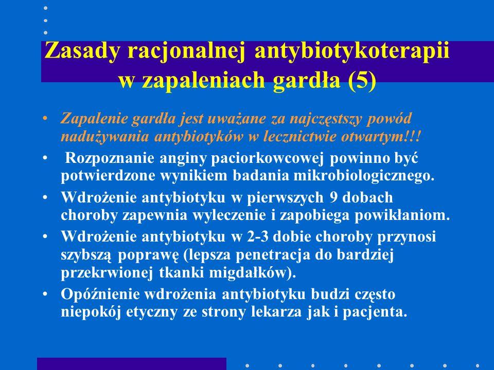 Zasady racjonalnej antybiotykoterapii w zapaleniach gardła (5)