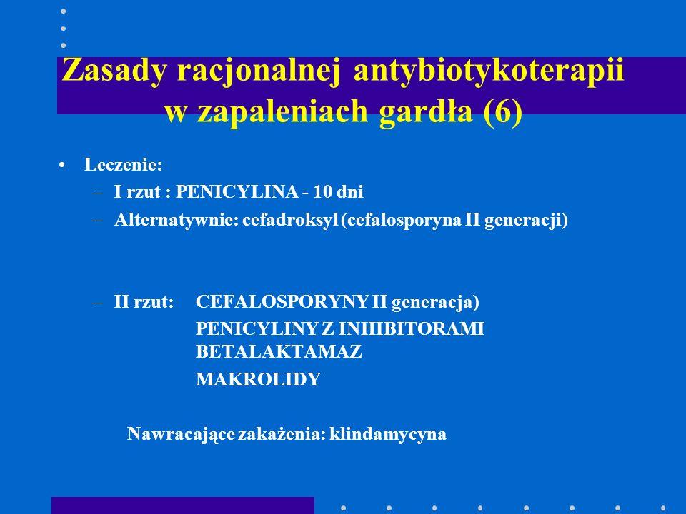 Zasady racjonalnej antybiotykoterapii w zapaleniach gardła (6)