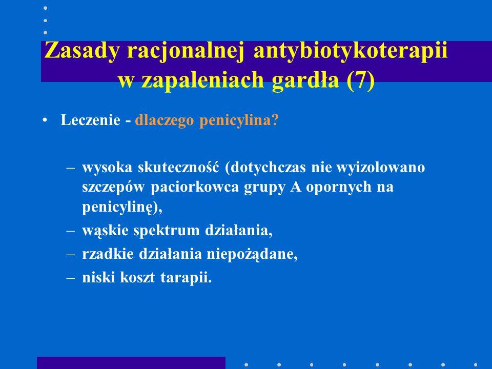 Zasady racjonalnej antybiotykoterapii w zapaleniach gardła (7)