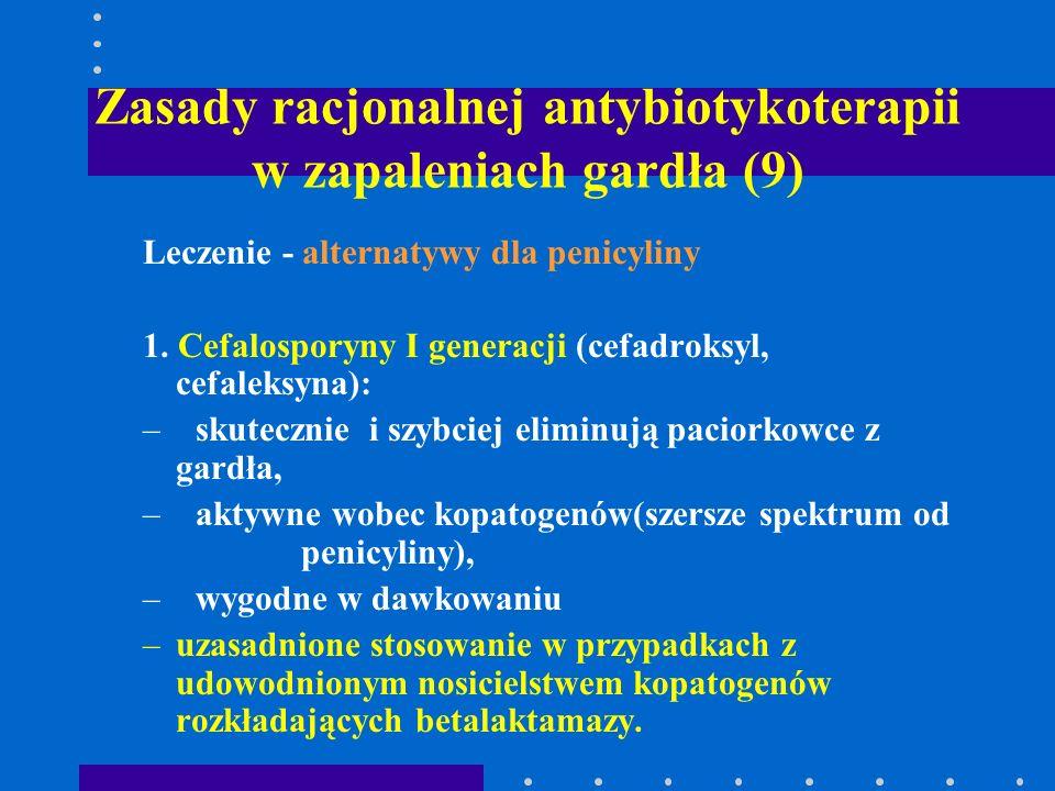 Zasady racjonalnej antybiotykoterapii w zapaleniach gardła (9)