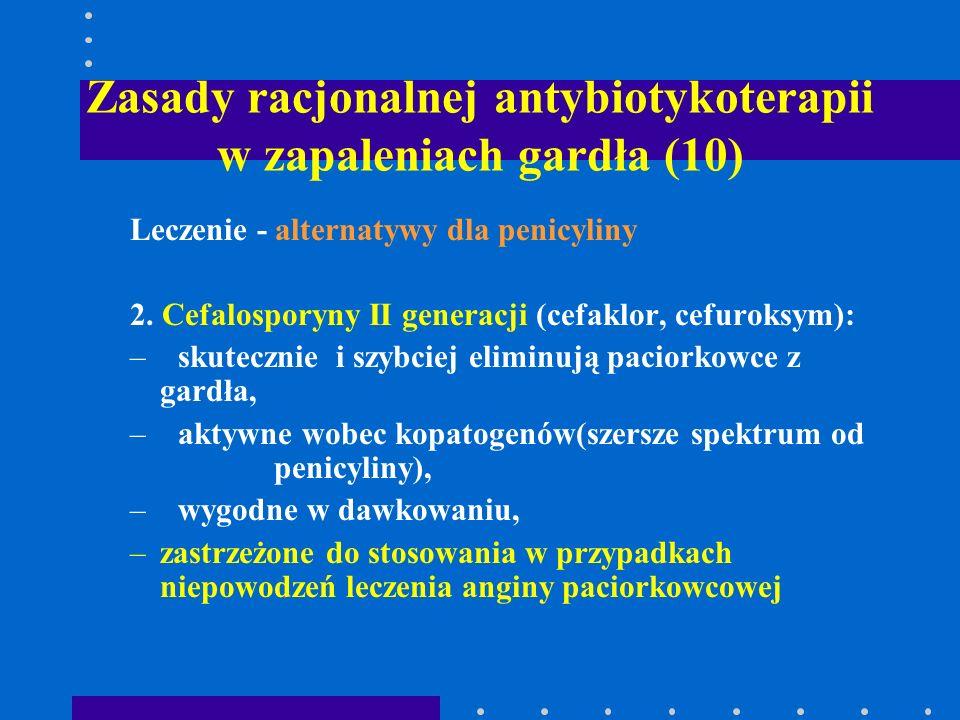 Zasady racjonalnej antybiotykoterapii w zapaleniach gardła (10)