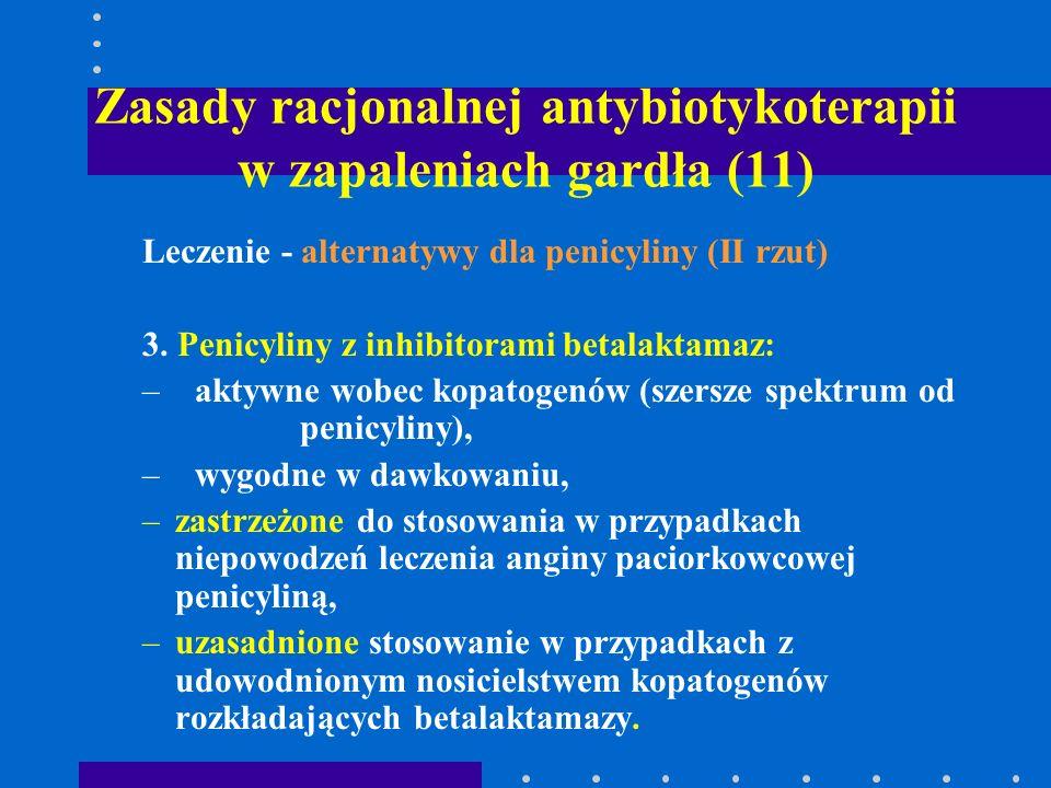 Zasady racjonalnej antybiotykoterapii w zapaleniach gardła (11)
