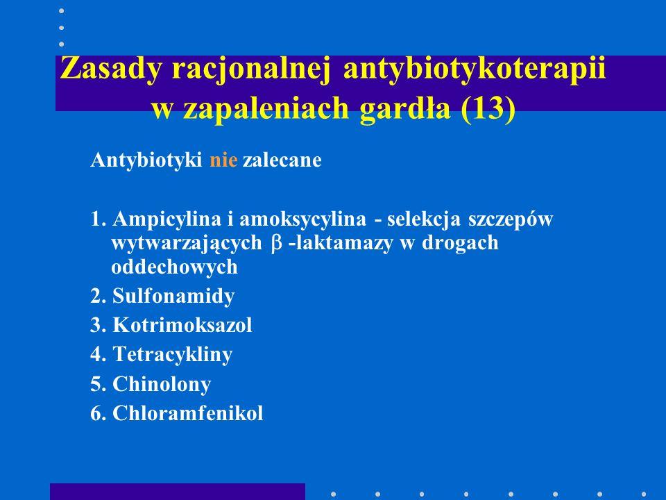 Zasady racjonalnej antybiotykoterapii w zapaleniach gardła (13)