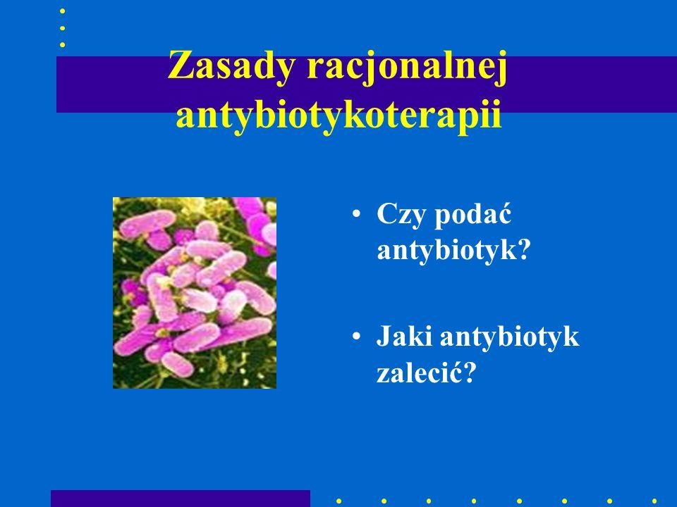 Zasady racjonalnej antybiotykoterapii