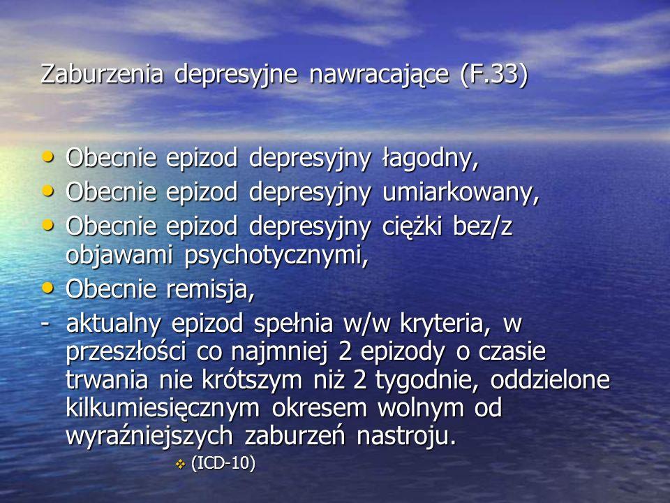 Zaburzenia depresyjne nawracające (F.33)