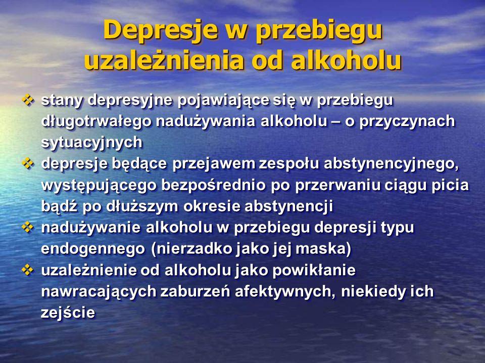 Depresje w przebiegu uzależnienia od alkoholu