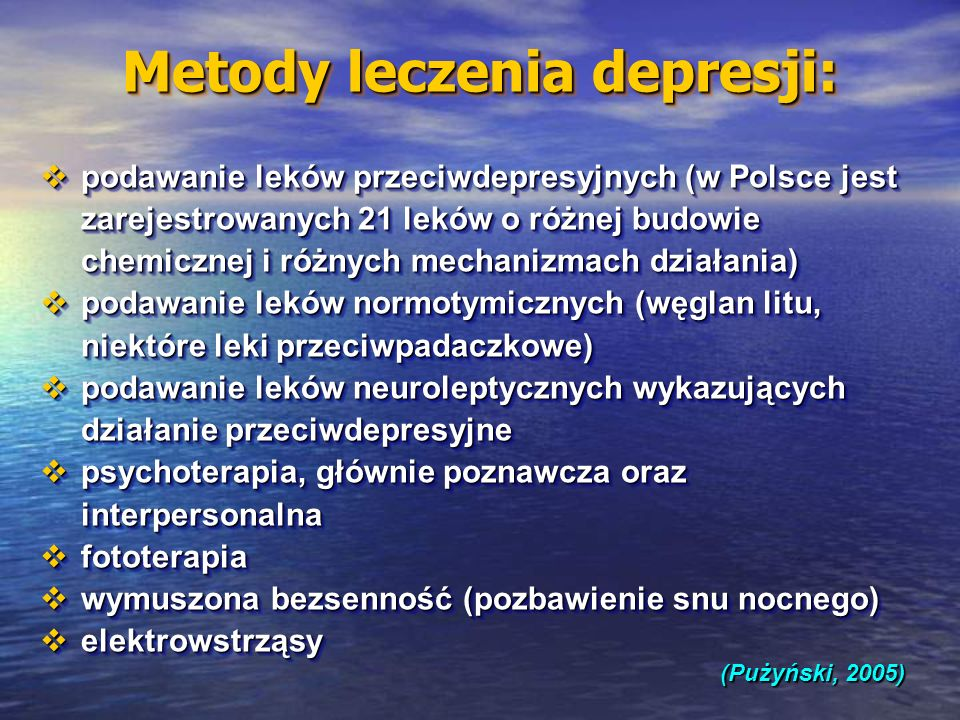 Metody leczenia depresji: