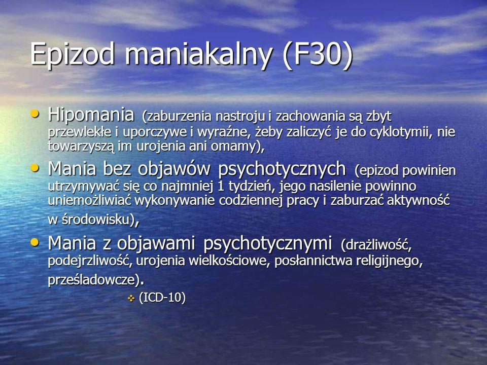 Epizod maniakalny (F30)