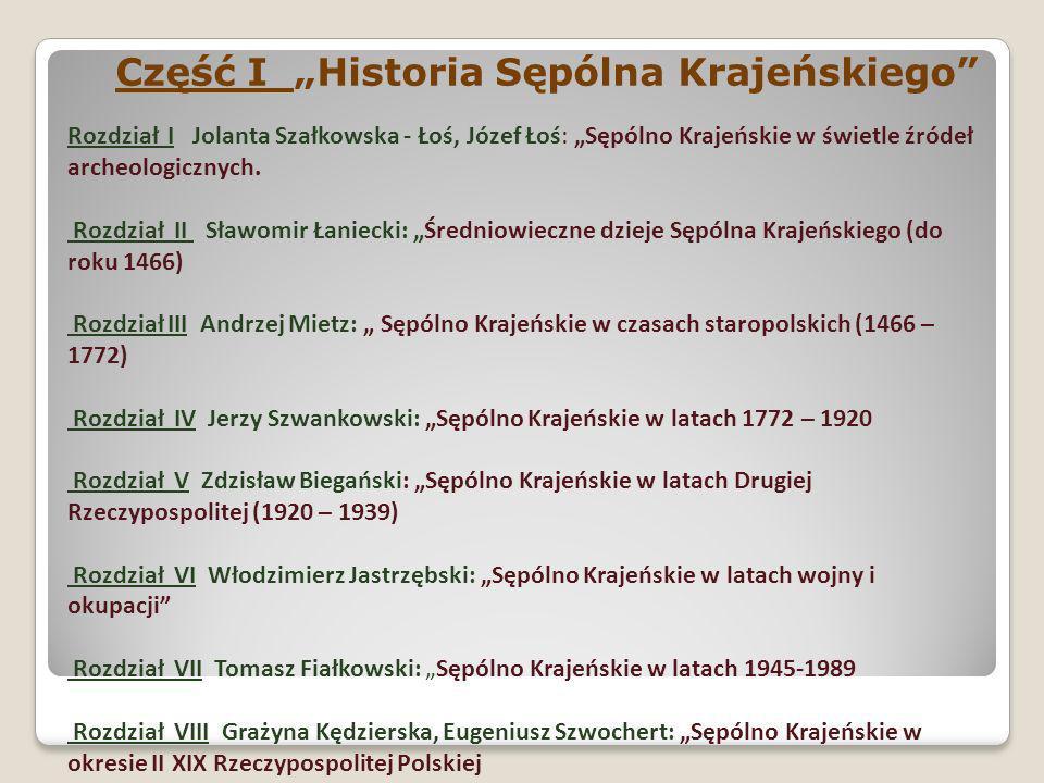 """Część I """"Historia Sępólna Krajeńskiego"""