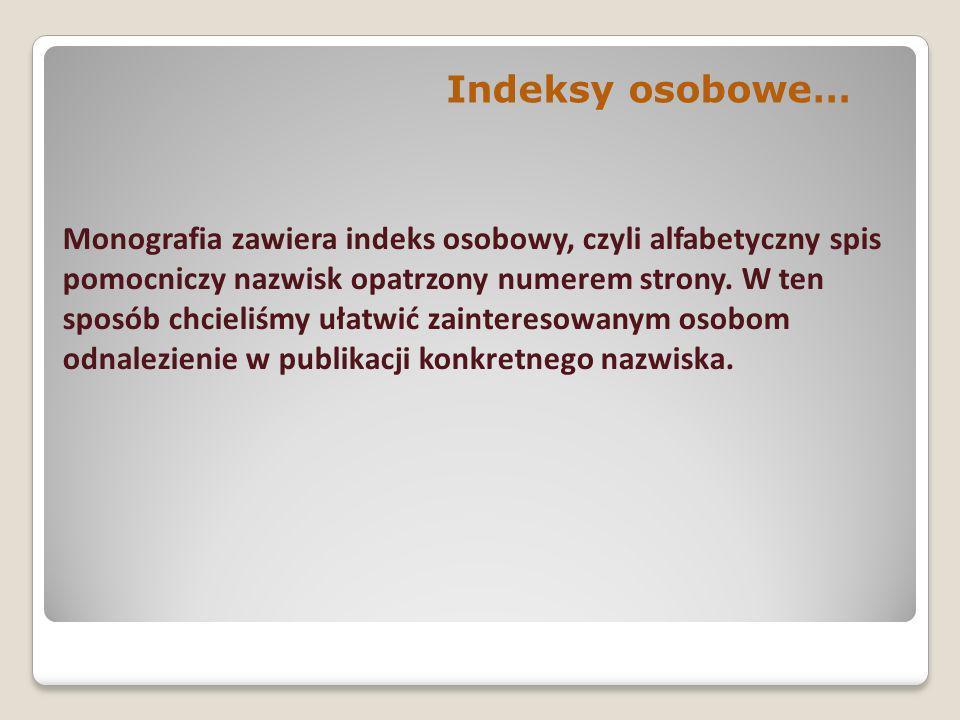 Indeksy osobowe…