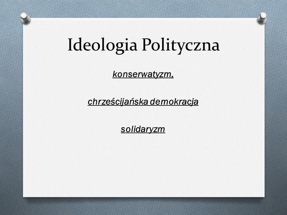 konserwatyzm, chrześcijańska demokracja solidaryzm