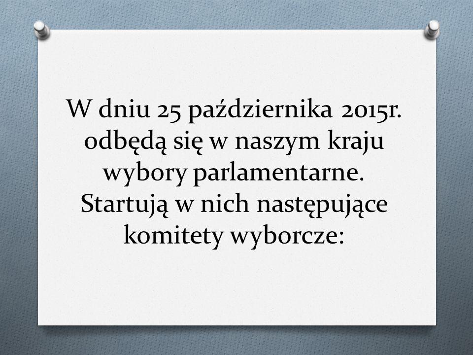 W dniu 25 października 2015r. odbędą się w naszym kraju wybory parlamentarne.