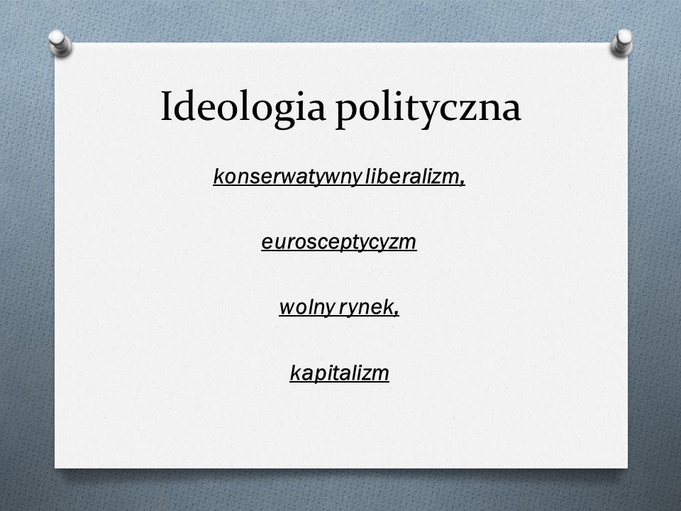 konserwatywny liberalizm, eurosceptycyzm wolny rynek, kapitalizm