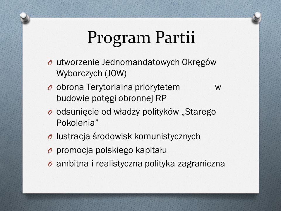 Program Partii utworzenie Jednomandatowych Okręgów Wyborczych (JOW)