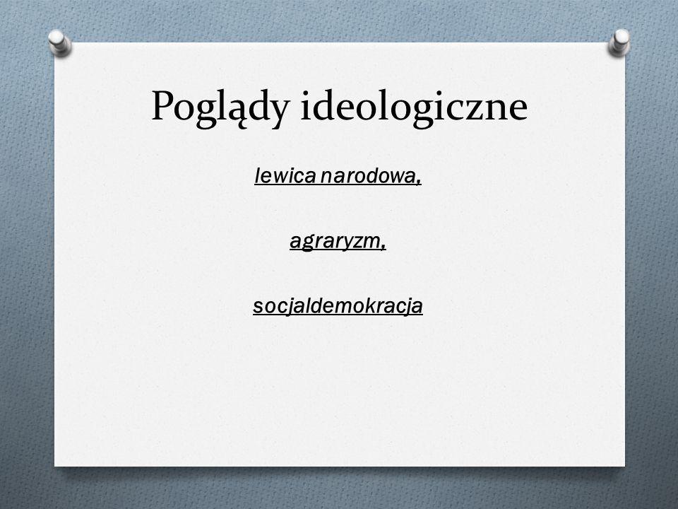 lewica narodowa, agraryzm, socjaldemokracja