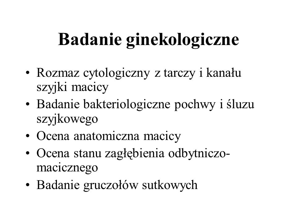Badanie ginekologiczne