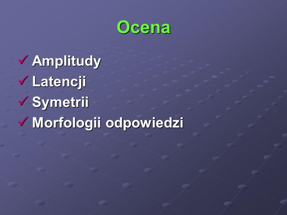 Ocena Amplitudy Latencji Symetrii Morfologii odpowiedzi