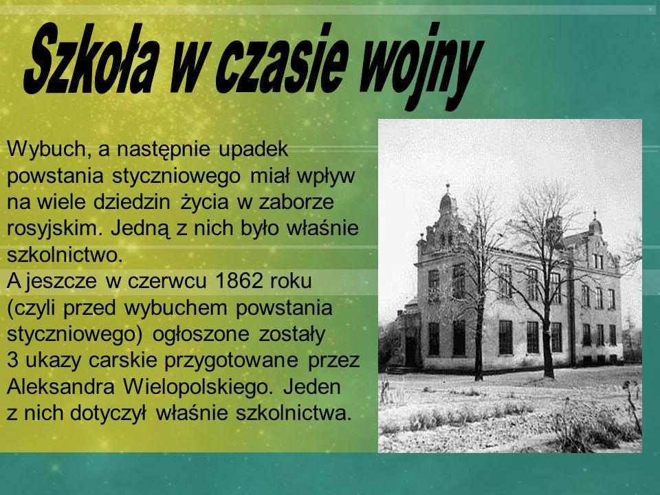 Szkoła w czasie wojny