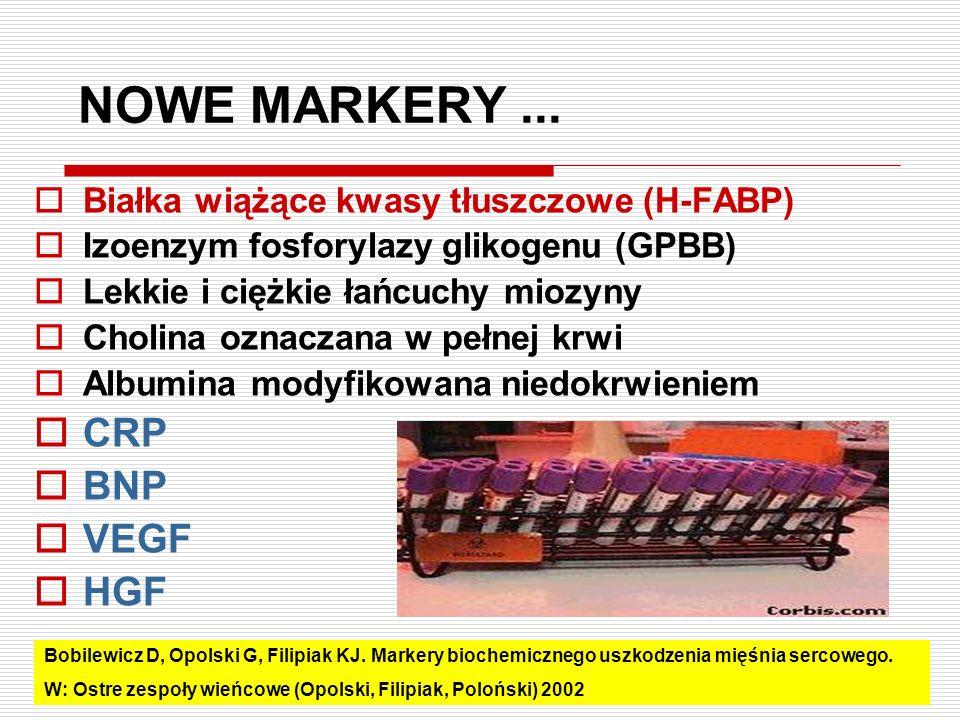 NOWE MARKERY ... CRP BNP VEGF HGF