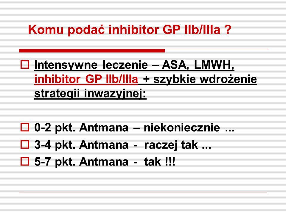 Komu podać inhibitor GP IIb/IIIa