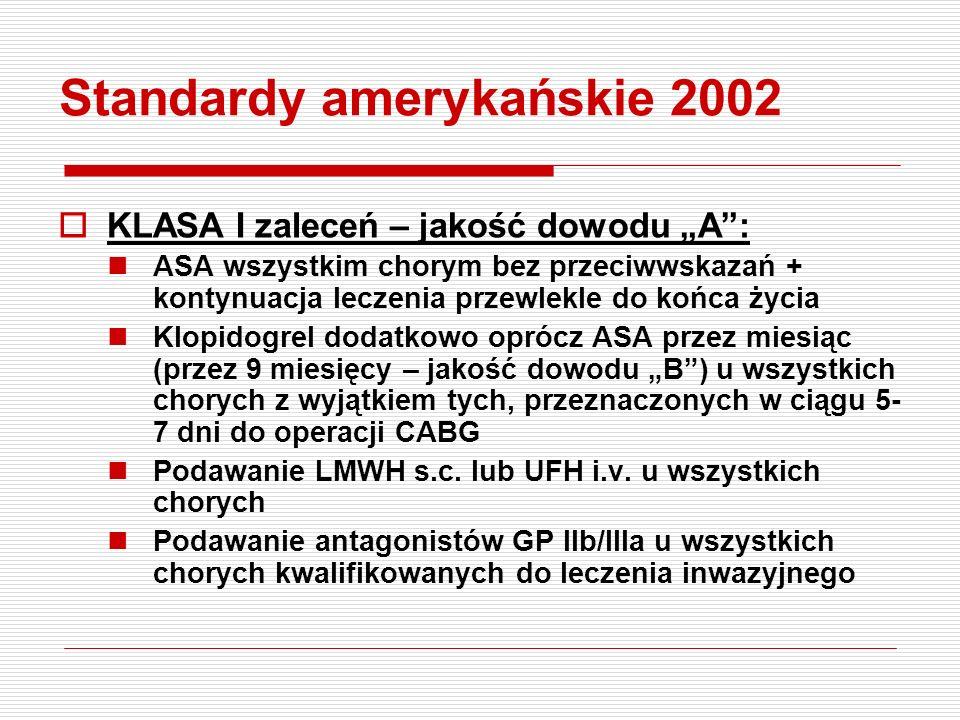 Standardy amerykańskie 2002