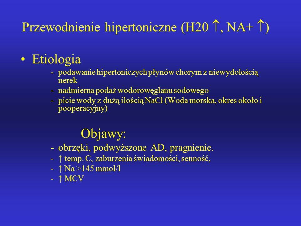 Przewodnienie hipertoniczne (H20 , NA+ )
