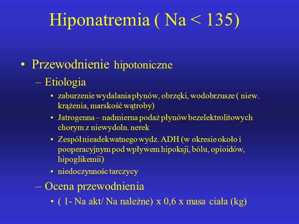 Hiponatremia ( Na < 135)